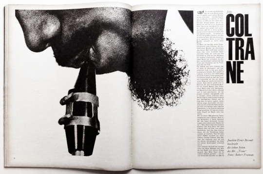 Willi Fleckhaus (Art Director) - Twen Magazine - John Coltrane, 1962