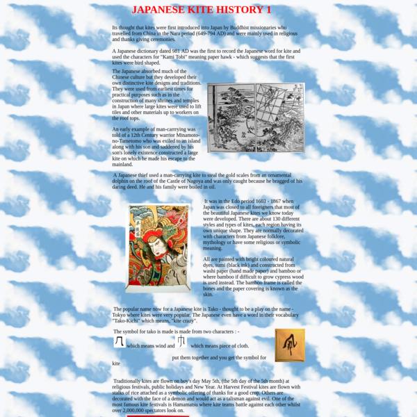 Japanese Kite History 1