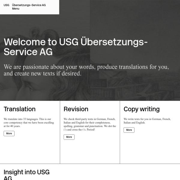 Unsere Übersetzer übersetzen in 33 Sprachen. - USG Übersetzungs-Service AG
