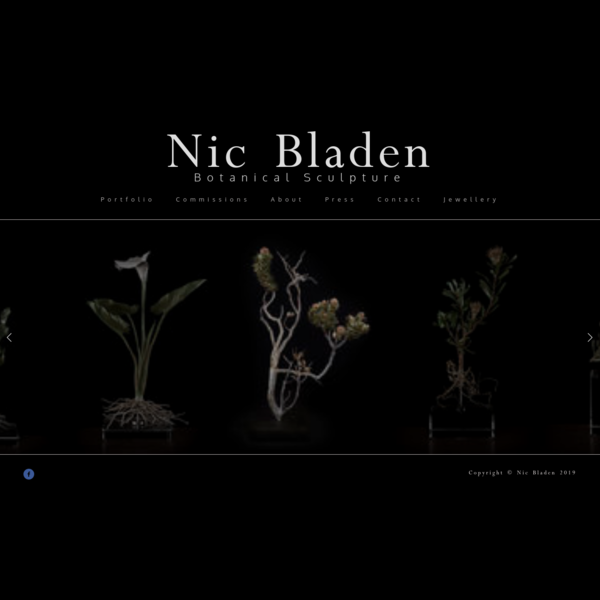 Nic Bladen's extraordinary botanical sculptures involves creating molds from actual organic material, and then transforming these into once-off sculptures of entire plants.