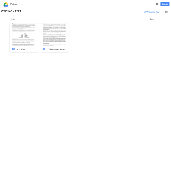 Google Drive: All text