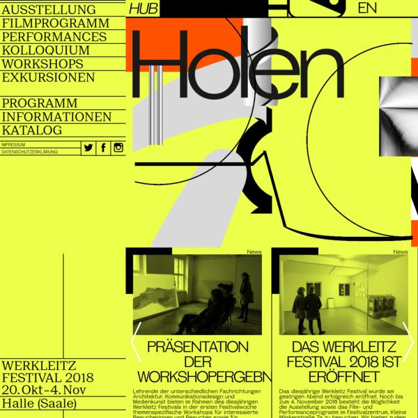 Holen und Bringen - Werkleitz Festival 2018