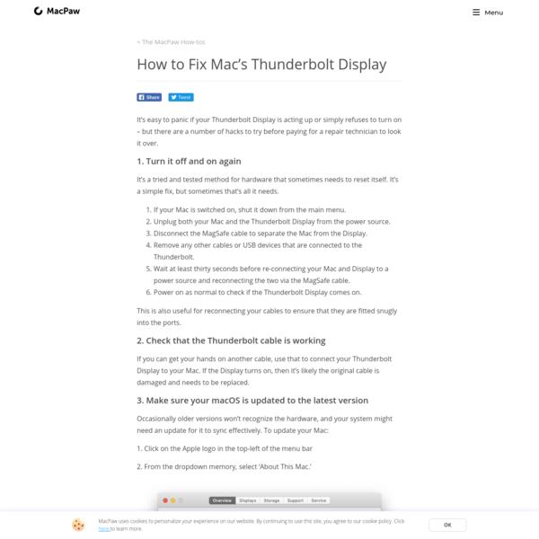 How to Fix Mac's Thunderbolt Display