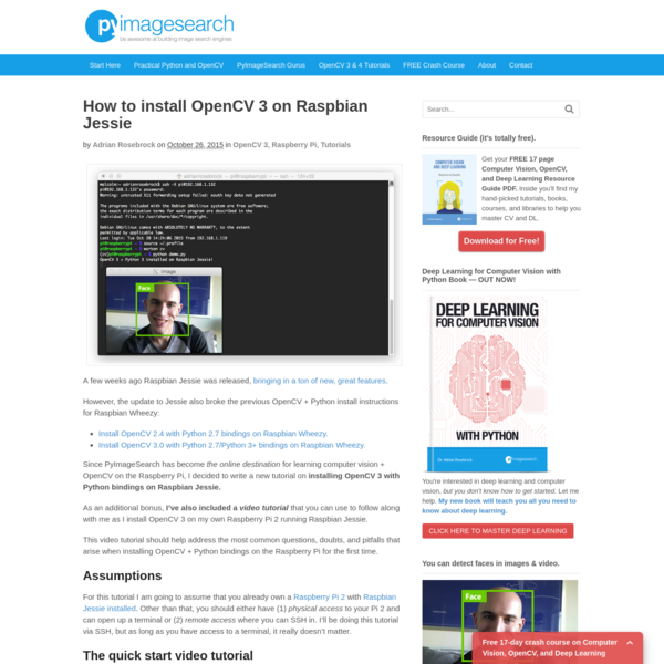 Pyimagesearch Raspberry Pi