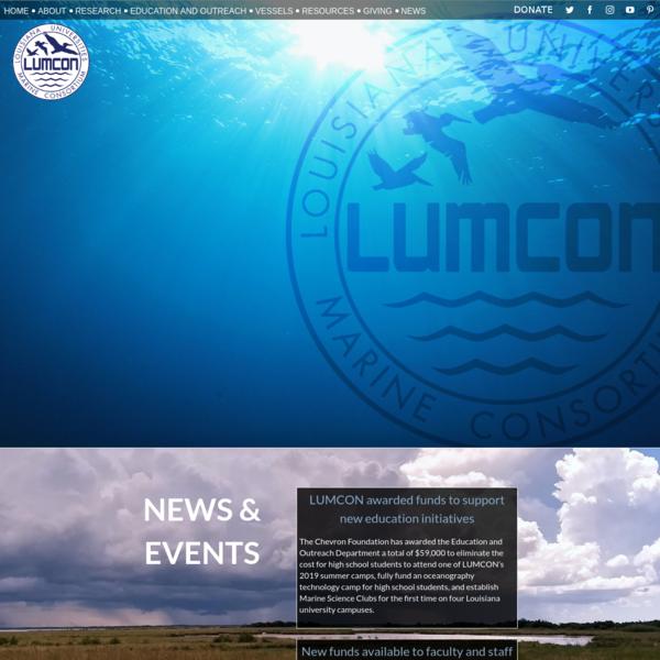 LUMCON Website - The Louisiana Universities Marine Consortium