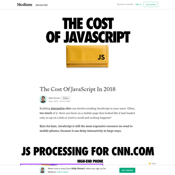 The Cost Of JavaScript In 2018
