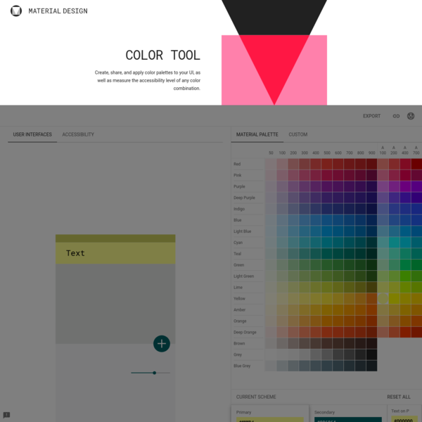 Color Tool - Material Design