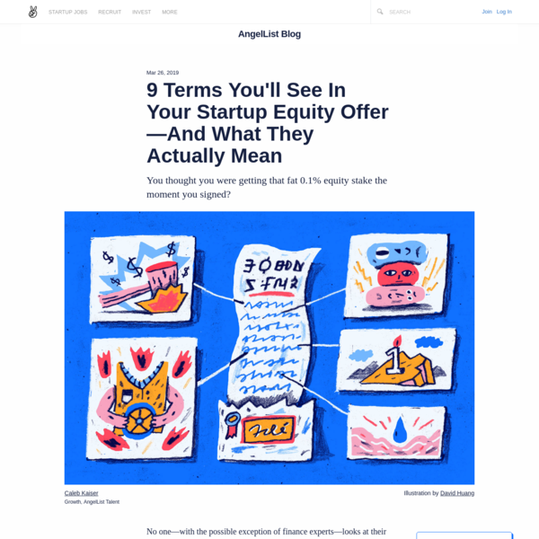 9 Terms You'll See In Your Startup Equity Offer-And What They Actually Mean