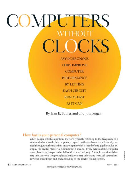 Computing without clocks