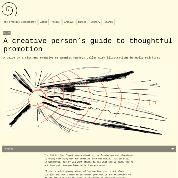 A creative person's guide to thoughtful promotion