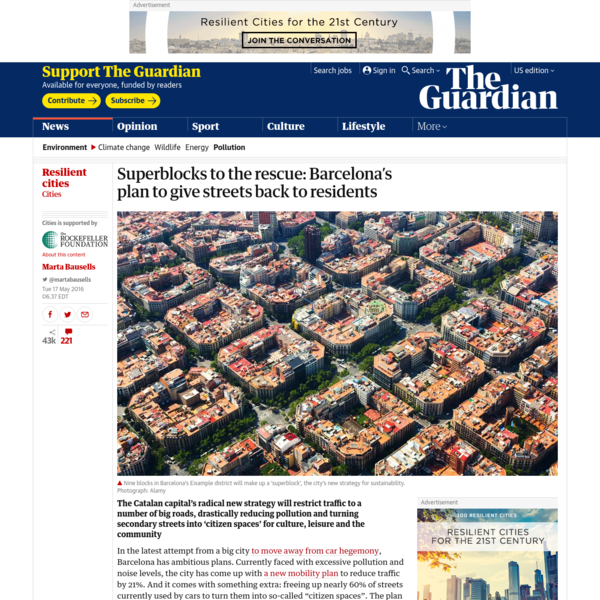 Superblocks to the rescue: Barcelona's plan to give streets back to residents