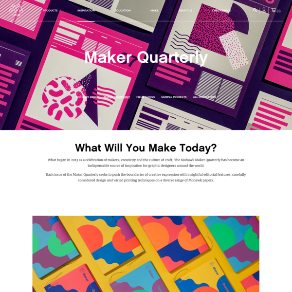 Maker Quarterly   Mohawk Connects