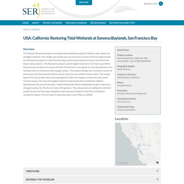 USA: California: Restoring Tidal Wetlands at Sonoma Baylands, San Francisco Bay