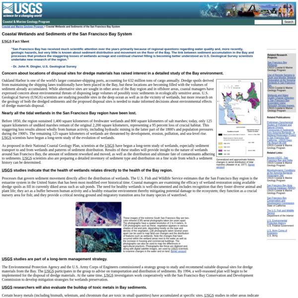 Coastal Wetlands and Sediments of the San Francisco Bay System - USGS Fact Sheet