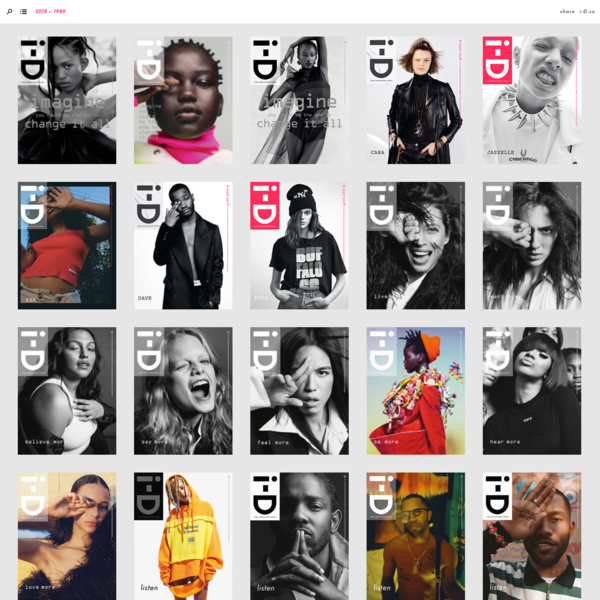 i-D cover archive: 1980 to 2015 | Cover 353 - 1