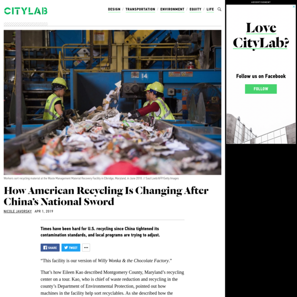 How American Recycling Is Changing After China's National Sword