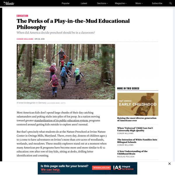 The Perks of a Play-in-the-Mud Educational Philosophy