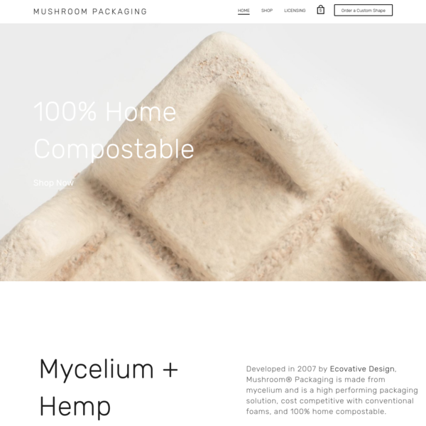 Home | Packaging products grown from mushroom mycelium | Troy, NY