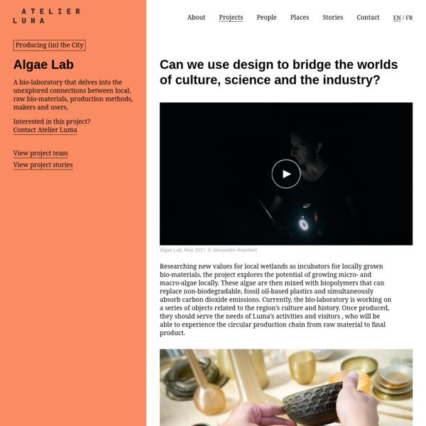 Algae Lab | Atelier Luma