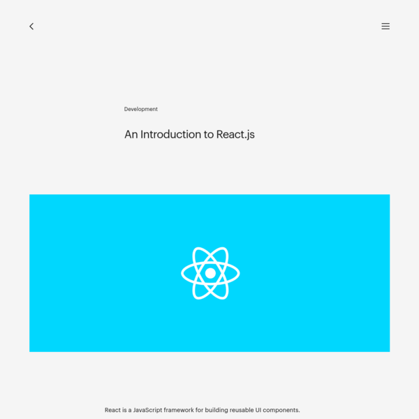 An Introduction to React.js - Instrument