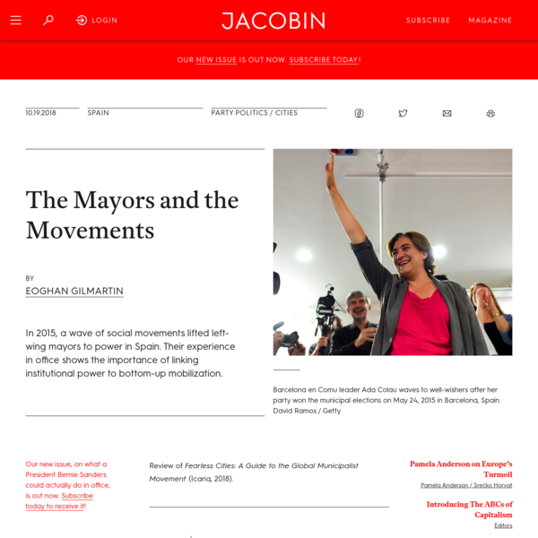 The Mayors and the Movements