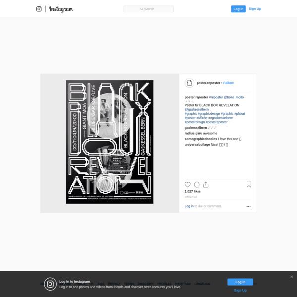 "Poster Reposter on Instagram: ""#reposter @bollo_mollo ・・・ Poster for BLACK BOX REVELATION @gaskesselbern . #graphic #graphic..."