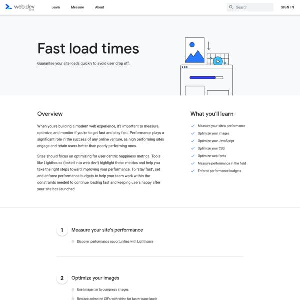 Fast load times   web.dev