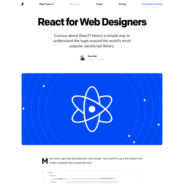 React for Web Designers