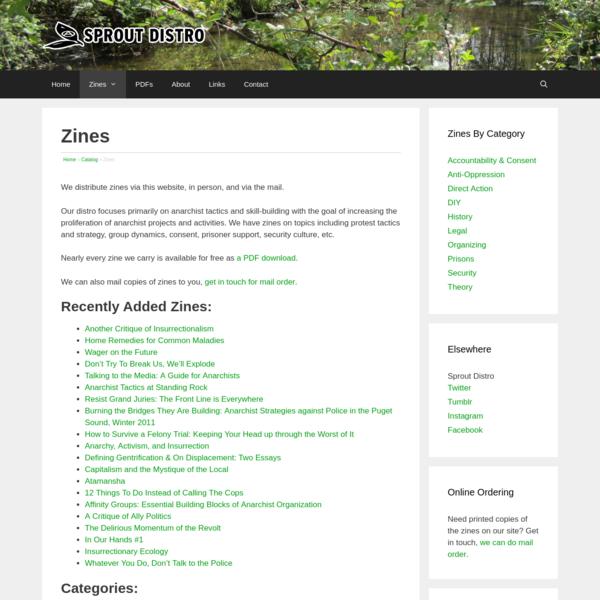 Zines - Sprout Distro