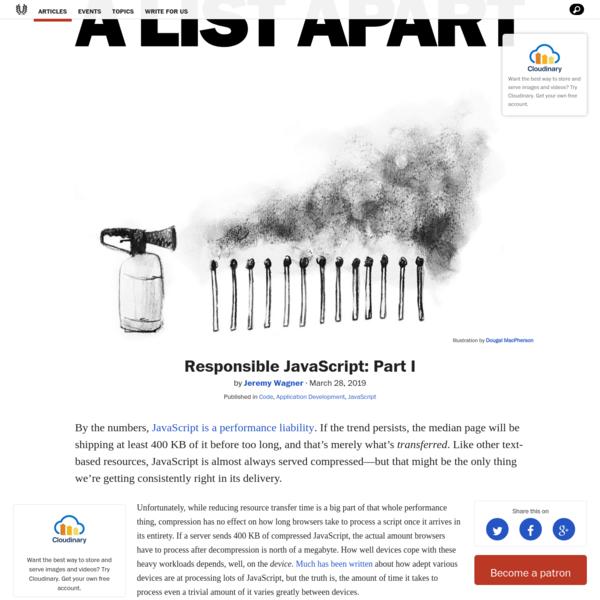 Responsible JavaScript: Part I