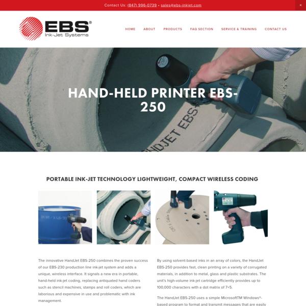 HAND-HELD Printer EBS-250 - EBS Ink-Jet Systems USA, Inc.