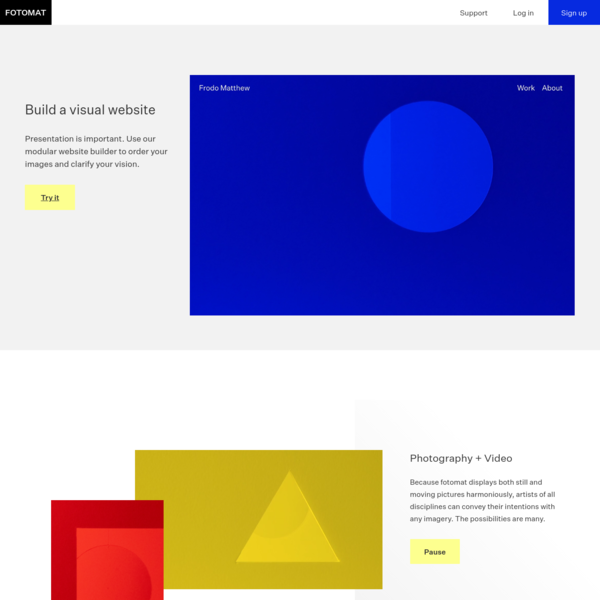 Build a visual website.