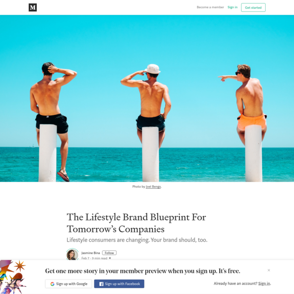 The Lifestyle Brand Blueprint For Tomorrow's Companies