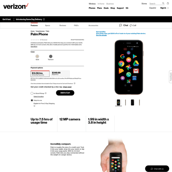 Palm Phone | Verizon Wireless
