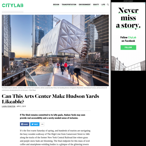 Manhattan's Biggest Architectural Bet on Culture Since Lincoln Center
