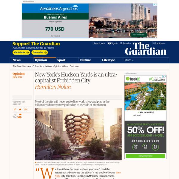 New York's Hudson Yards is an ultra-capitalist Forbidden City | Hamilton Nolan