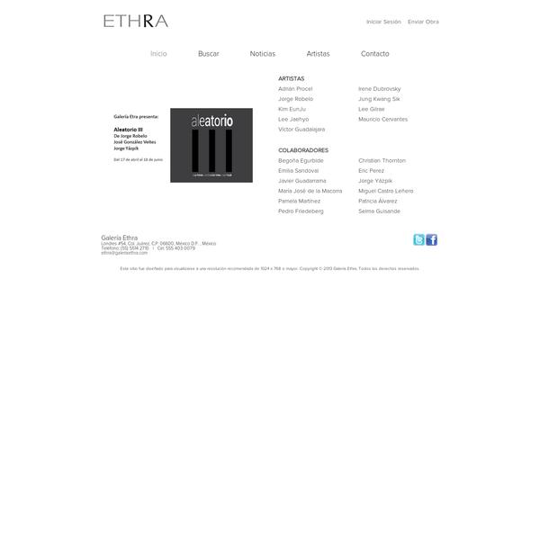 Galería Ethra - Nuestro espacio propone una mirada al arte desde un punto de vista diferente, que no pretende seguir modas ni limitarse a un estilo de artistas.