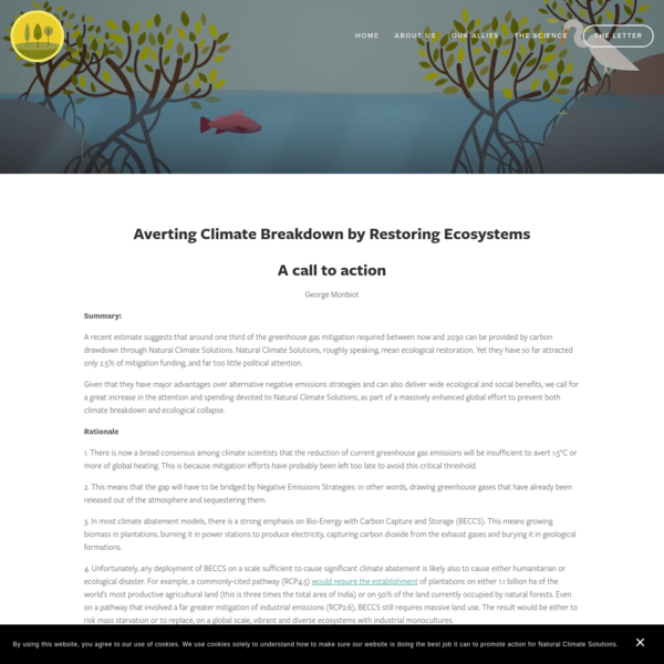 The science - Natural Climate Solutions
