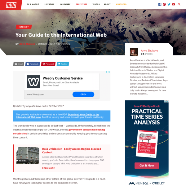 Your Guide to the International Web