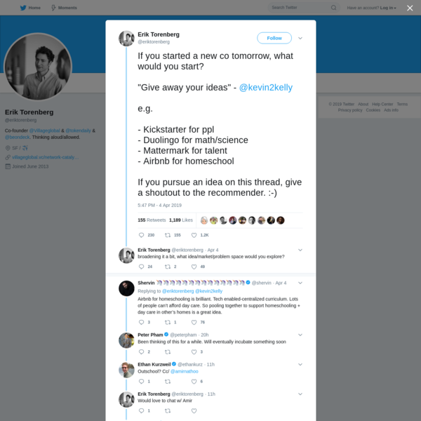 Erik Torenberg on Twitter
