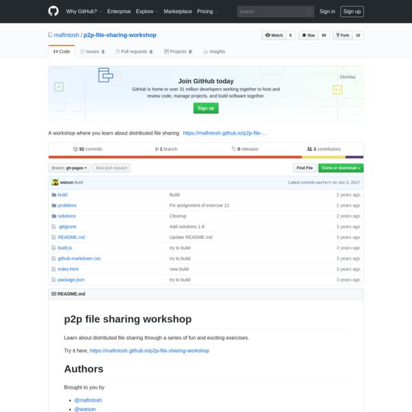 mafintosh/p2p-file-sharing-workshop