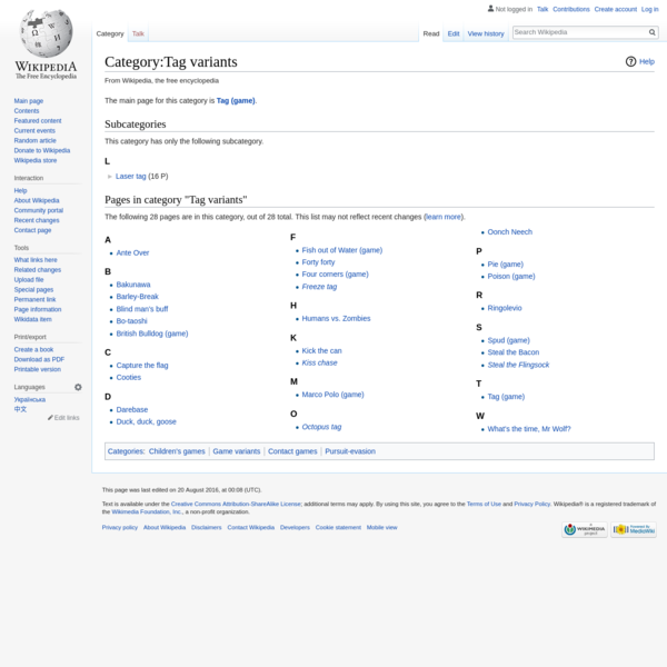 Category:Tag variants - Wikipedia