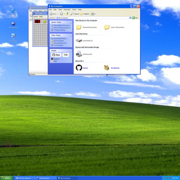 WinXP - Web based Windows XP