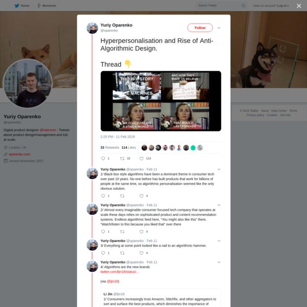 Yuriy Oparenko on Twitter