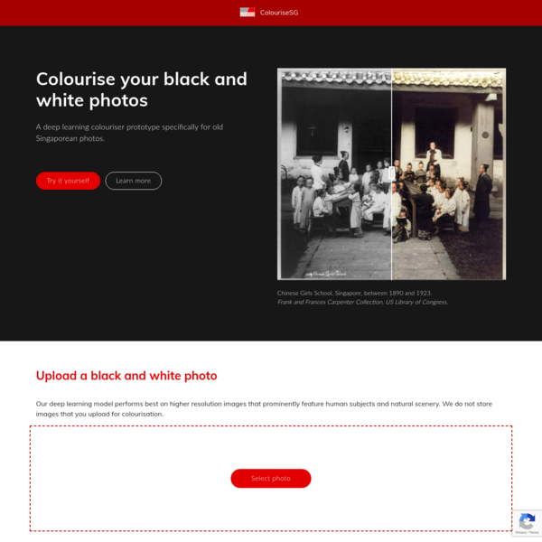 A deep learning colouriser prototype specifically for old Singaporean photos.