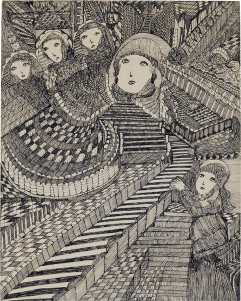 Madge Gill, Many Mansions, 1951