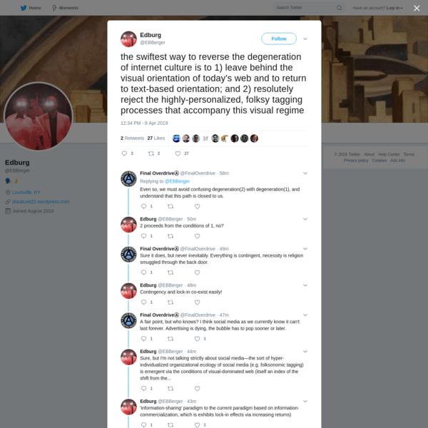 Edburg on Twitter