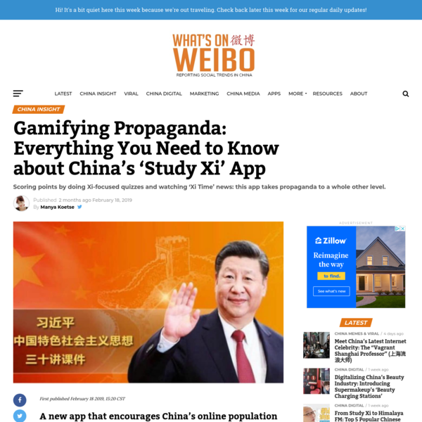 Gamifying Propaganda: Everything You Need to Know about China's 'Study Xi' App