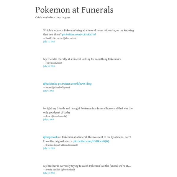 Pokemon at Funerals