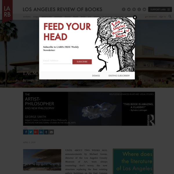 LACMA: Suicide by Architecture - Los Angeles Review of Books